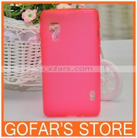 Matte Gel Pudding Soft TPU Case for LG Optimus L5 II E460 300pcs/Lot