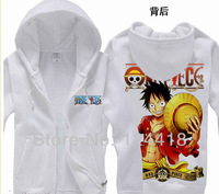 Free Shipping New Anime One Piece Luffy the New World Clothing Hooded Sweatshirt Cosplay Hoodie