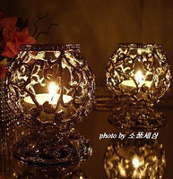 Free shipping/ Cheap pearl gem exquisite small mousse wedding gift ktv mousse furniture accessories lantern candle holder