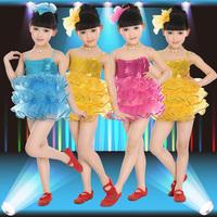 Infant child dance clothes puff children's ballet skirt dance dress performance wear costume