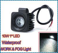 Waterproof 10~30V Aluminium alloy 10W LED Work Light Fog light For Jeep SUV ATV Off-road Truck Free Shipping