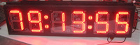 10 inch 6 digits red clock wall clock led display