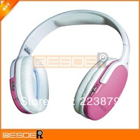 Freeshipping HI-FI CD Sound Plug Micro SD Card Wireless Headphone MP3 Player