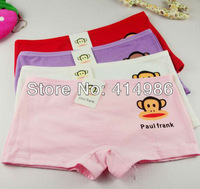 HOT Free shipping 10pcs/lot hot selling comfortable cotton solid girls boyshort underwear breathable low-waisted panties N-78