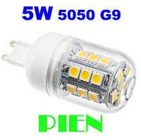 G9 220V 5W 5050 SMD 30 LED Crystal Lamp Corn Bulb Droplight Chandelier Spotlight Cool/Warm White 360 degree Free Shipping 3pcs
