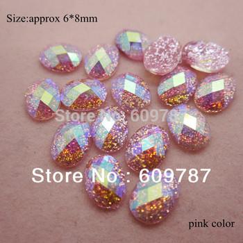 Free Shipping-Pink 200pcs super shine Nail Art Decoration glitter stone