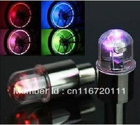 4 pcs/lot Led Tyre auto Wheel light Tire Valve Caps Covers Neon Sensor bulbs Lamps for Bike/Car/Truck/Motorcycle free shipping