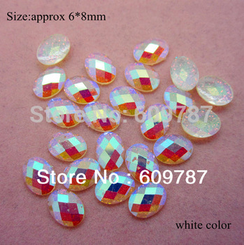 Free Shipping-White 200pcs super shine Nail Art Decoration glitter stone