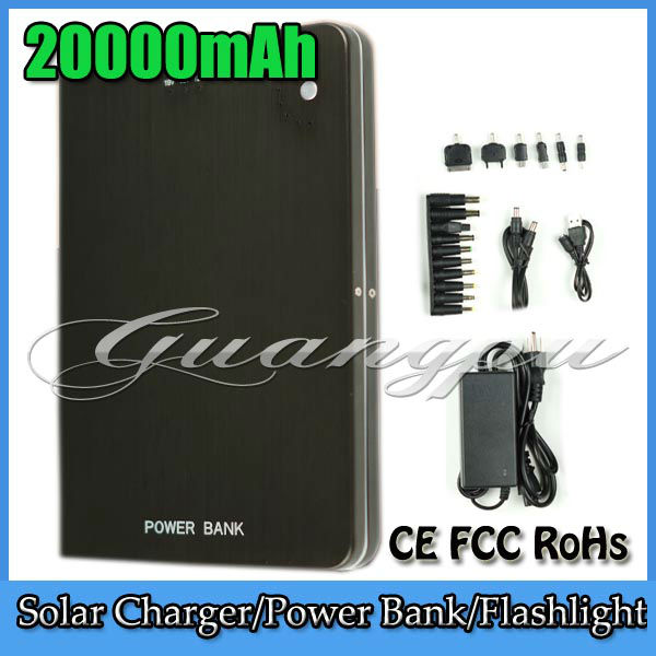 Large Capacity 20000mAh Universal Business Travel Mobile Power Bank Charger Battery for Tablet PC iPad Laptop Notebook iPhone(China (Mainland))
