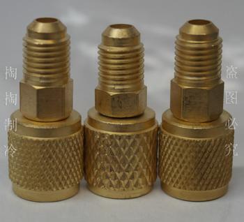R410 adaptador adaptadores refrigerante R410A r22 partes de refrigeración 410 conectores