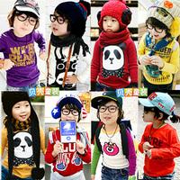 2013 spring cartoon boys clothing girls clothing child long-sleeve T-shirt jh-0001  (CC001)