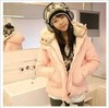 Free shipping . 8398 plus size with a fur collar hood powder cotton-padded jacket outerwear