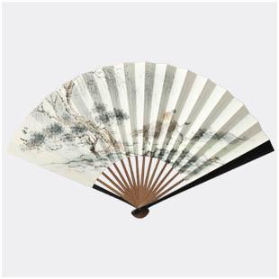 Gift fan silk fan chinese style chiban folding fan daily male fan