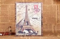 Retro Paris eiffel for iPad2/3 retro british style pattern PU leather case with Sleep wake up function