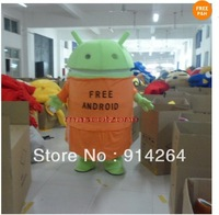 Professional Android Robot Mascot Costume Fancy Dress Adult Size   /free shipping   by FEDEX DHL