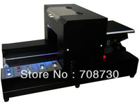A3 UV flatbed printer , White ink printing available , free coating for any material printing , Embossed Printing effect
