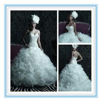 Ball Gown Beads Organza Heavy Beading 2013 Wedding Dresses(WDAL-2004)