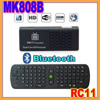 MK808B Bluetooth Android 4.1 Jelly Bean Mini PC RK3066 A9 Dual Core Stick TV Dongle 1x MK808 Updated+1x Air Mouse keyboard RC11