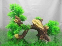 Artificial plants driftwood combination fish tank aquarium decoration #9299