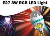 YC-998 E27 3W AC 85-265V 7 LEDs RGB Light LED Light for XMAS Decoration,Gatherin,Bar,Disco,KTV,Festival etc