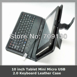 1PCS/LOT 10 inch leather case with keyboard for tablet pc,MID,tablet laptop accessory(China (Mainland))