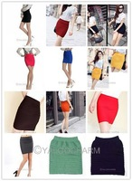 2pcs fashion 12 Colors Women Lady's A-Line Mini Pleated SKIRT Slim Fit Seamless Stretch Tight 70766-70777