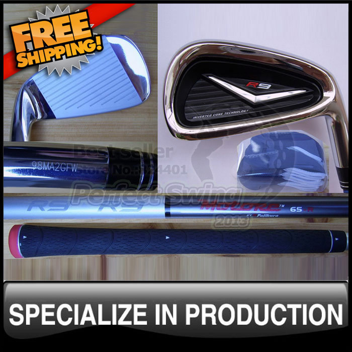 Free shipping R9 Irons with Fujikura Motore 60 or Fujikura Motore 65 Graphite Shaft 3-9PS or 4-9PAS Headcovers included(China (Mainland))
