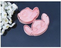 (Min Order 5$,can mixed)  cake Decorating tools,1 set of 2pcs Stitch cookie cutter Fondant Cake sugarcraft crafts mold bakeware