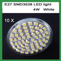 Free Shipping 4W E27 60 LED Spot Light Lamp Bulb 220V Warm /Cool White LED BULB LIGHTS LAMP 10pcs/lot