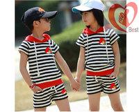 Free shipping Summer Kids Clothing Set Lace Girl Clothes T Shirt And Lattice shorts Pants Infant Garment Children plaid suit