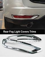 Free Ship for Subaru Forester 2009 10 11 2012 Chrome  Rear Fog Light Lamp Covers Trim 4pcs