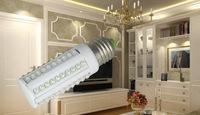 High brightness LED corn lamp AC220V/110V energy-saving lamps 3W 60 LEDS E27 Platinum lead board WARME LIGHT