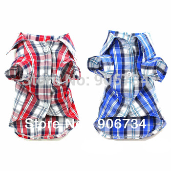 1PCS  Hot Selling Cute Pet Dog Puppy Clothes Shirt Size S/M/L Blue  Red Color Free Shipping