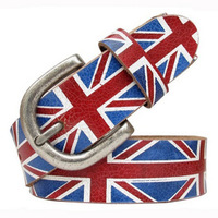 Ms male pin buckle leather leisure mizi British flag head layer cowhide leather belt free shipping