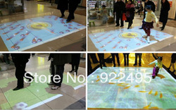 Interactive Floor Projection for Shopping Mall, Supermarket(Advertising Equipment ),Kids amusement(China (Mainland))