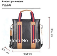 newest 2013 Polo fashion shoulder bag for men high quality leather business messenger bag black brown cross body bag for boy