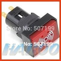 5pcs shipping free,16mm continiues sound illuminated led light buzzer push button switch 6V,12V,24V, 24k goldplating pins