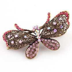 Korean version of the new hair accessories diamond the butterfly knot retro palace tip duckbill clip ancient color hair fork man(China (Mainland))