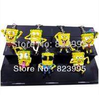 HOT SELL Spongebob squarepants  ALLOY 5CM Key Chain A pack of seven