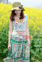 Miss Xia Tian flowers UV sun hat sun hat large brimmed hat folding A066