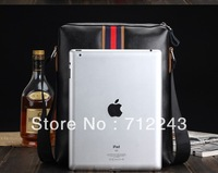 polo discount popular men's leather bag casual business cross body messenger bag man cool black shoulder bag