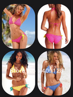 swimwear women 2013 new bikini swimwear push up swimsuit fashion Lace dot 3 colors free shipping bathing suit bikini