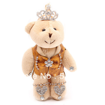 High-end wedding cotton Bear Yiwu jewelry wholesale creative cartoon doll bag pendant accessories