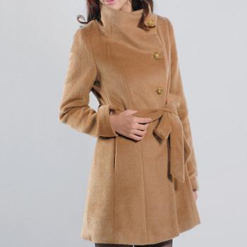Hiraner202 winter new arrival turn-down collar slim woolen female outerwear sheep trophonema wool coat female