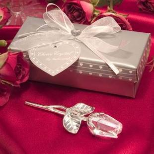 Free Shipping Crystal Rose Wedding Favor for Wedding Gifts Party Decoration Stuff Supplies