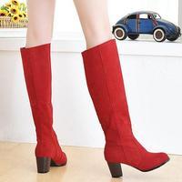 Free shipping 2014 autumn boots high-heeled boots high-leg women boots size 34 - 46.