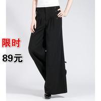 Plus size pants high waist wide leg pants pants feet trousers culottes broadened dance pants
