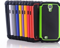30pcs/lot,Hybrid 3 in 1 Robot Rubber Plastic Hard Back Cover Case For Samsung Galaxy S4 I9500,Free shipping