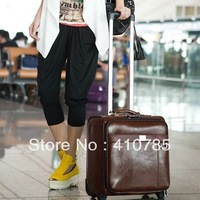 2013 new European and American luxury fashion trolley case luggage suitcase sub-board chassis lockbox FREE SHIPPING for EMS