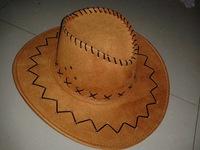 Chicken skin velvet cowboy hat outdoor tourism stage performances Western style hat crafts hat tide
